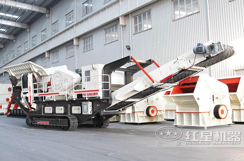 可移动履带式碎石机时产200吨