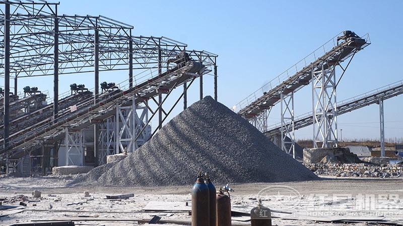 方案二制砂生产线现场
