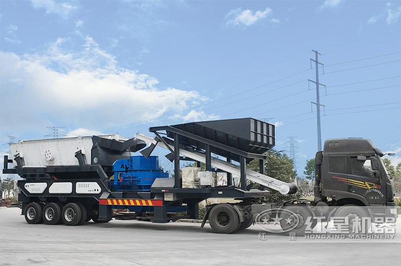 时产300吨车载流动打砂车