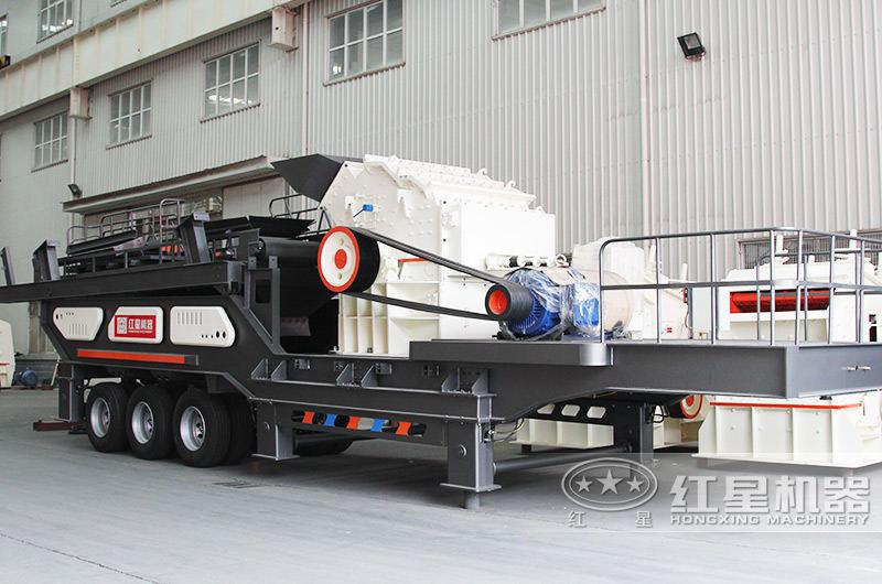 车载移动式磕石机械:配细碎机