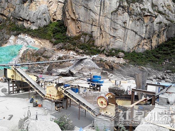 专业环保制砂生产线现场