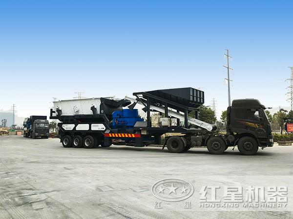 可流动车载碎石机:搭载制砂机