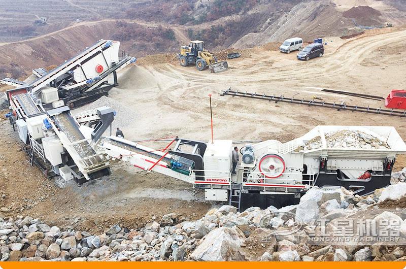 移动的全套煤矸石制砂生产线现场1