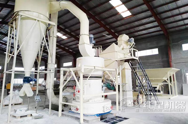 环保密封的滑石粉磨粉生产线现场
