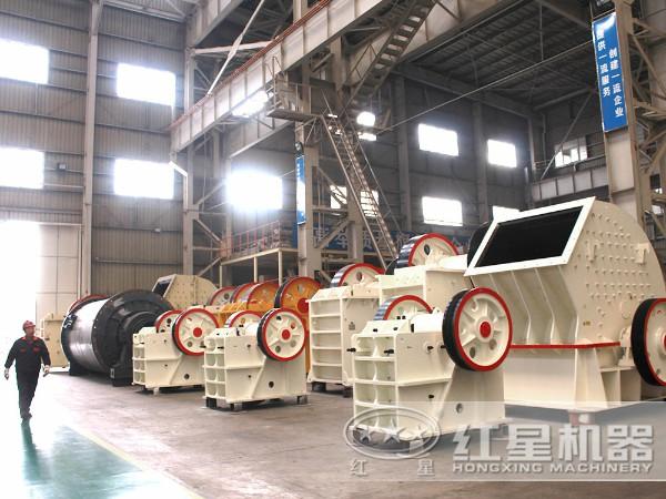 锤式制沙生产车间