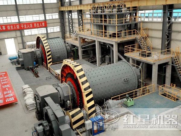 镍矿棒磨机低碳环保作业现场