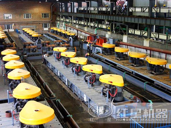 选铜生产线现场:浮选机