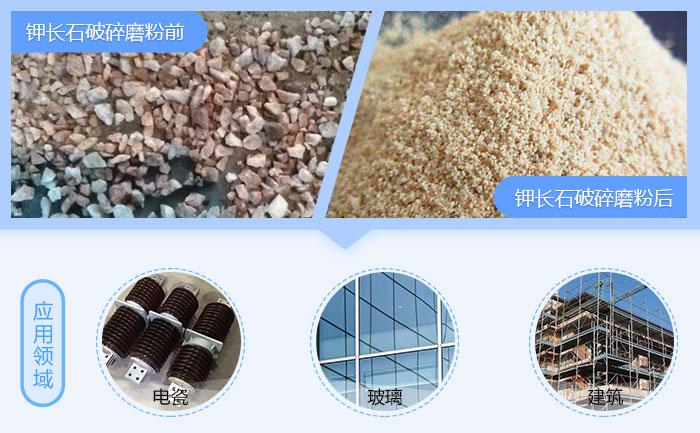 钾长石磨粉机应用领域