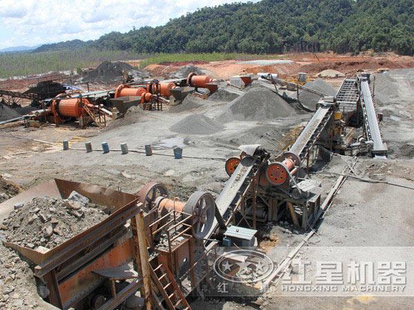 金矿球磨机环保工作现场