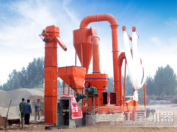 江西日产500吨方解石磨粉生产线现场