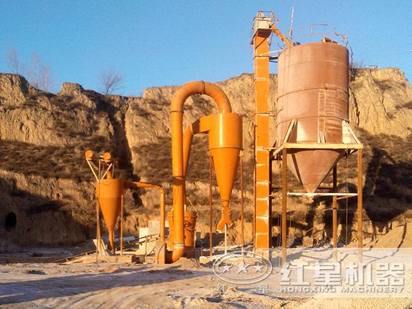 湖北石膏粉环保磨粉加工现场