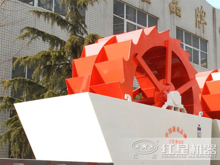 双轮轮斗式洗砂机,产量50-100t/h