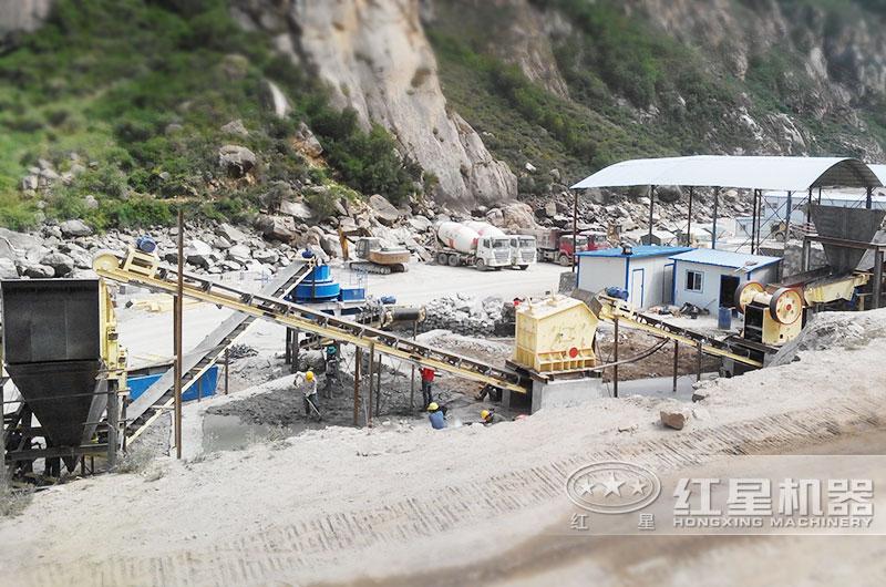河南安阳河卵石制砂碎石生产线,级配好,使用率高