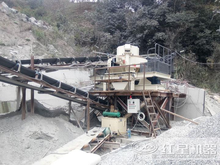 甘肃天水制砂碎石生产线,产量高,粒度好
