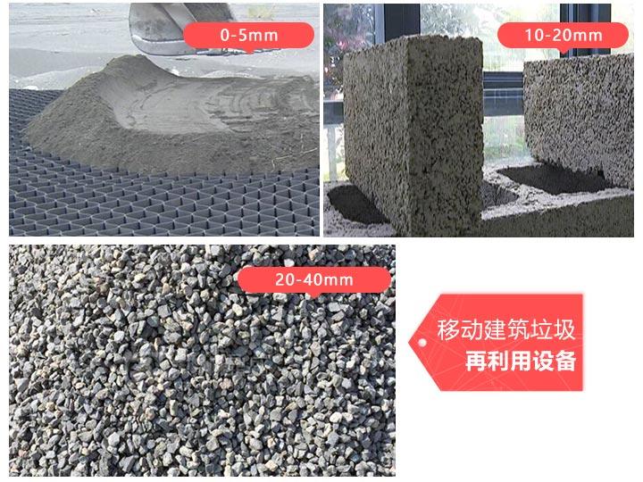 移动建筑垃圾再利用设备资源化利用