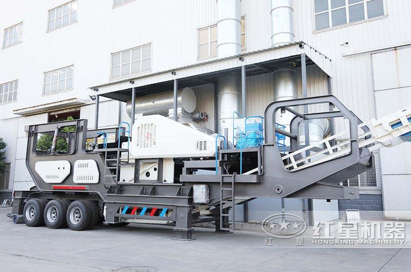 移动建筑垃圾处理设备:车载移动颚破机