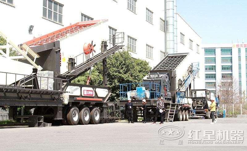时产500吨车载打石机
