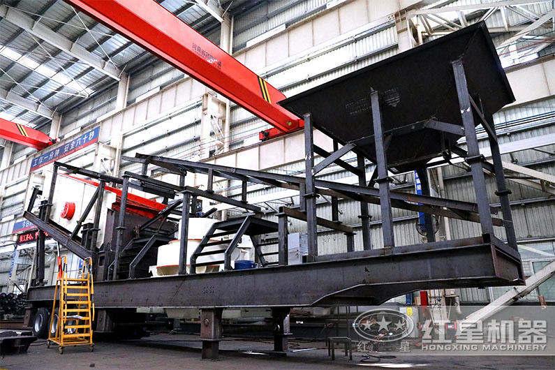 时产300吨车载流动打砂机价格实惠
