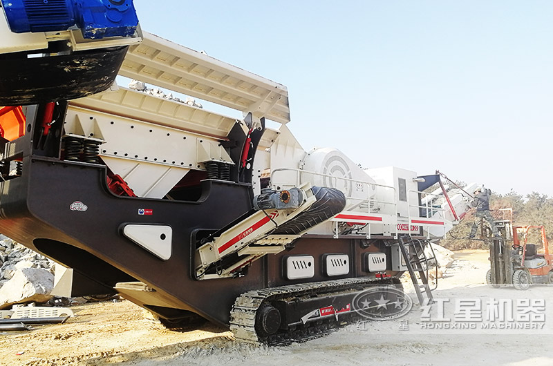 时产200吨履带移动磕石机