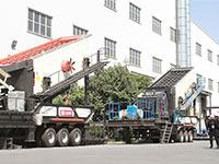 恭喜,山东日产1000吨石子移动破碎生产线正式投产