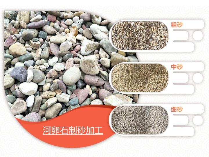 河卵石制砂