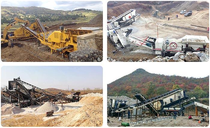 各个地区可移动石子生产线现场