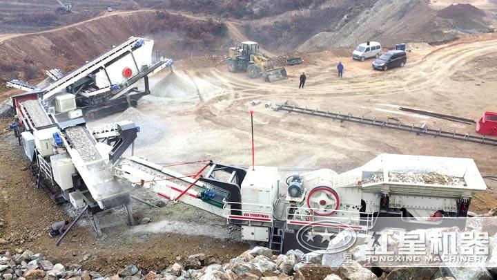 山石移动破碎生产线,时产36-230吨