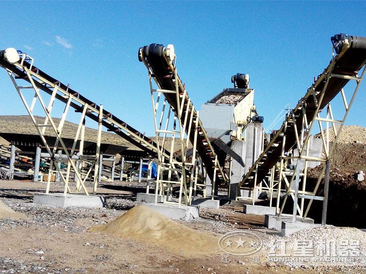 海南三亚金矿石破碎现场,日产3000吨