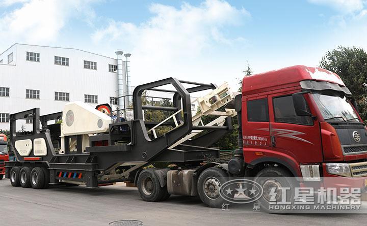时产400吨移动给料机+颚破一体机火热发货中