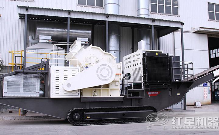 时产300吨建筑垃圾履带移动粉碎机