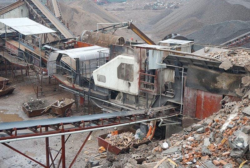 山东日产3000到8000吨建筑垃圾再生骨料破碎制砂生产线