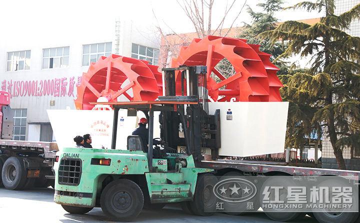 月产6-7万吨机制砂生产线设备(洗砂机部分)待发货