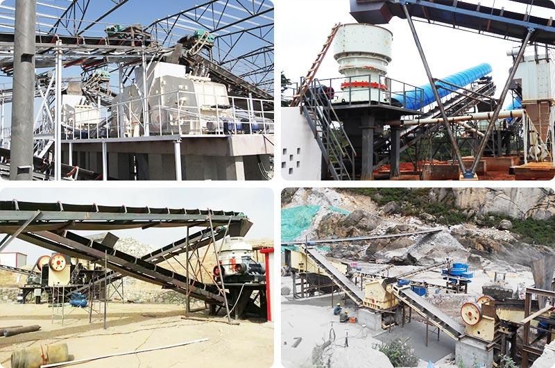 固定机制砂生产线现场合计,环保效能高、稳定可靠