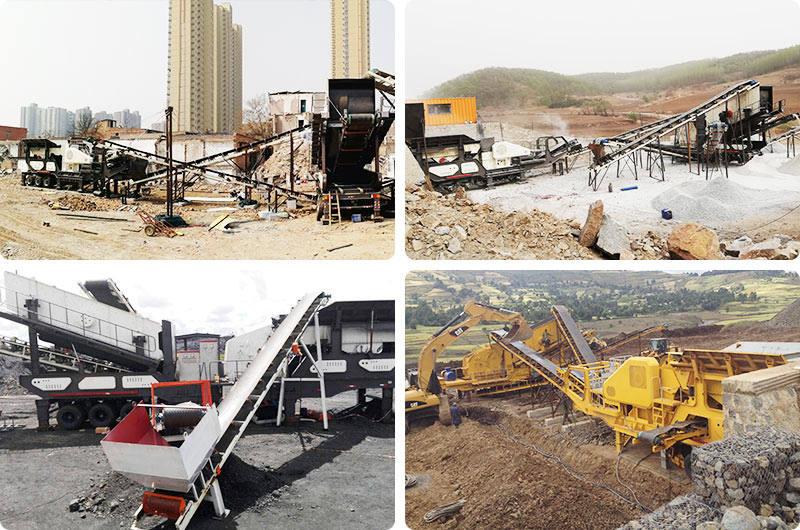移动机制砂生产线现场,成本低、占地小、环保安全、利润可观
