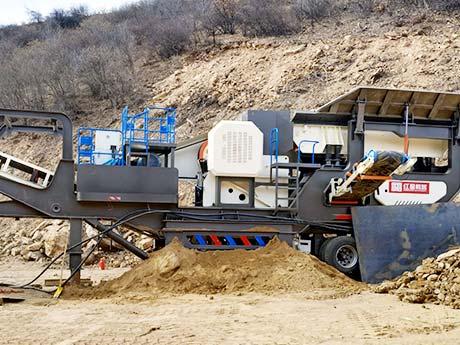 福建日产1000方鹅卵石移动破碎、制砂生产线现场