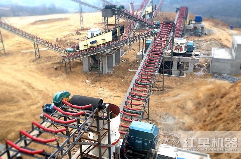 河南南阳时产600吨机制砂生产线