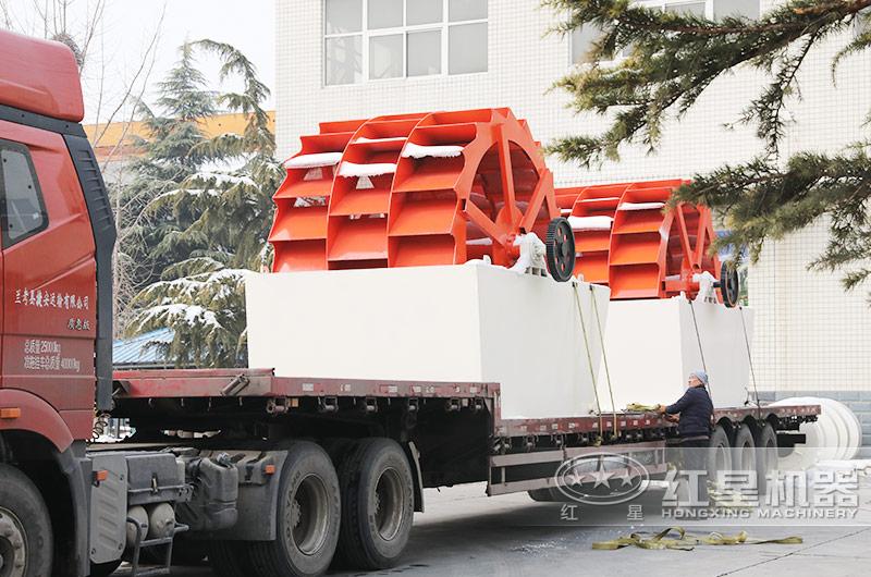 时产200-300吨水洗砂生产线发货了,发货周期在一周之内,早投产早盈利