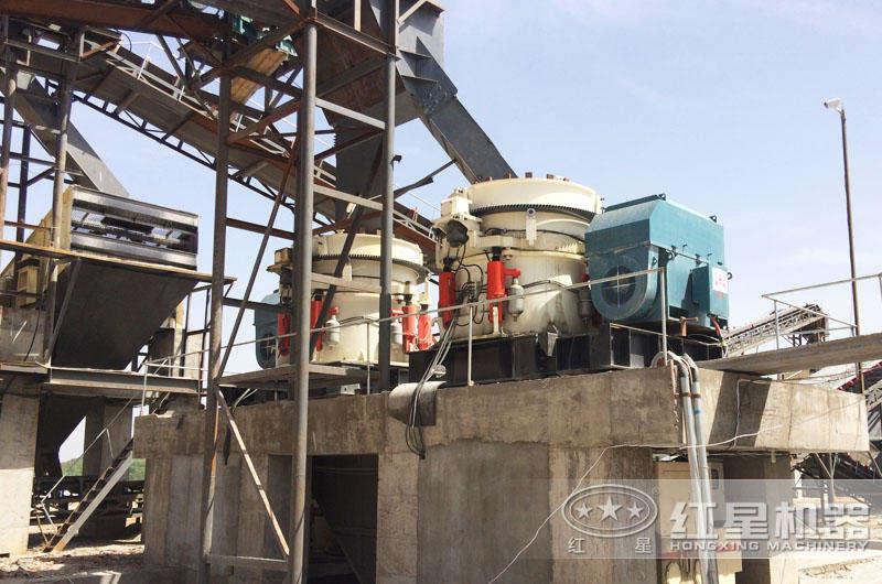 河南洛阳时产800吨石头破碎生产线