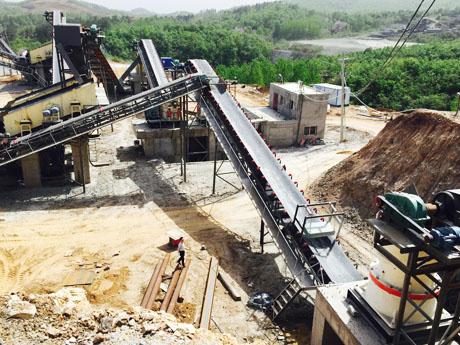 甘肃张掖时产450t花岗岩破碎生产线