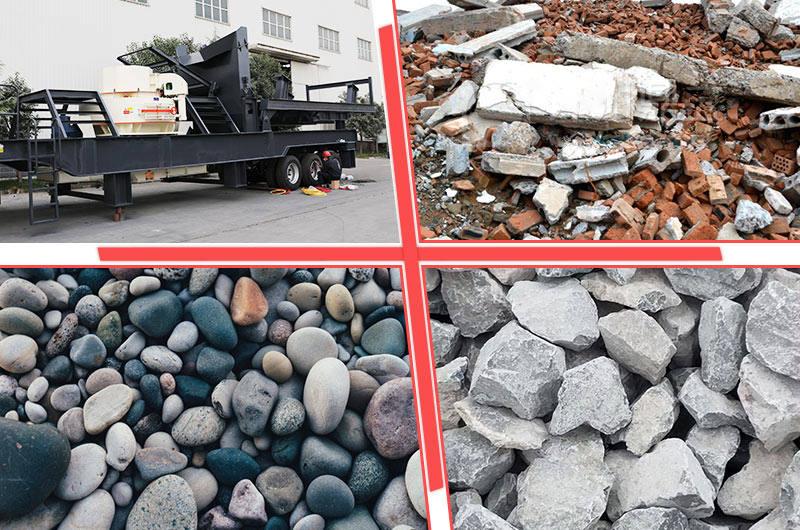 想要破碎哪一种物料,流动破碎打沙机都可以