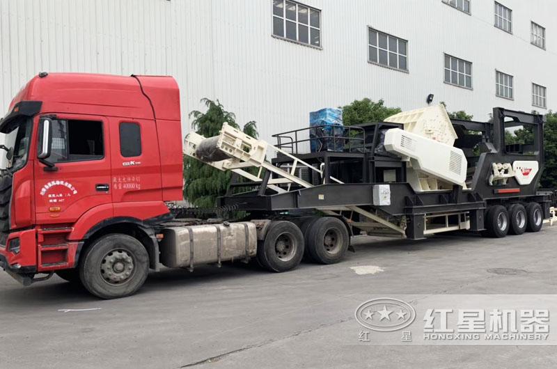 红星移动式锤破机价格合理,现货发往全国各地