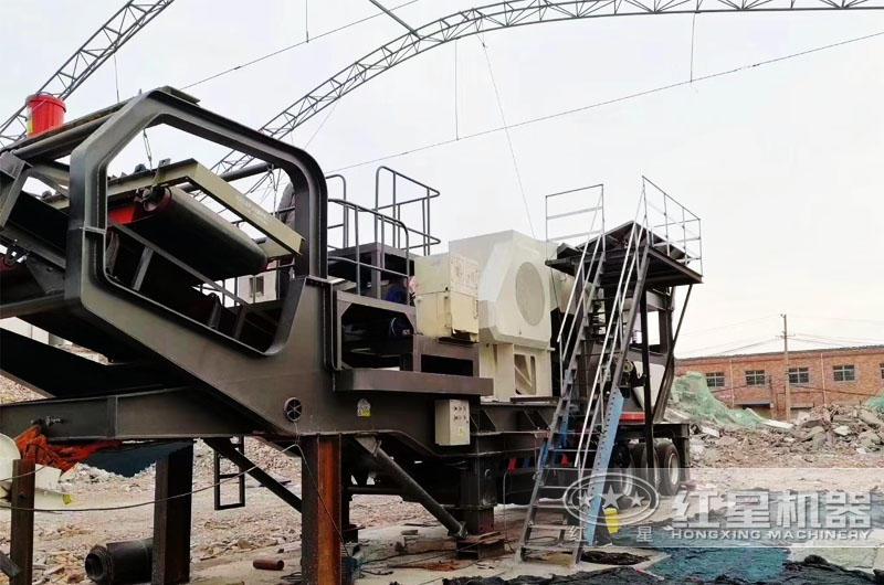 室内移动式破碎站生产线开始搭建