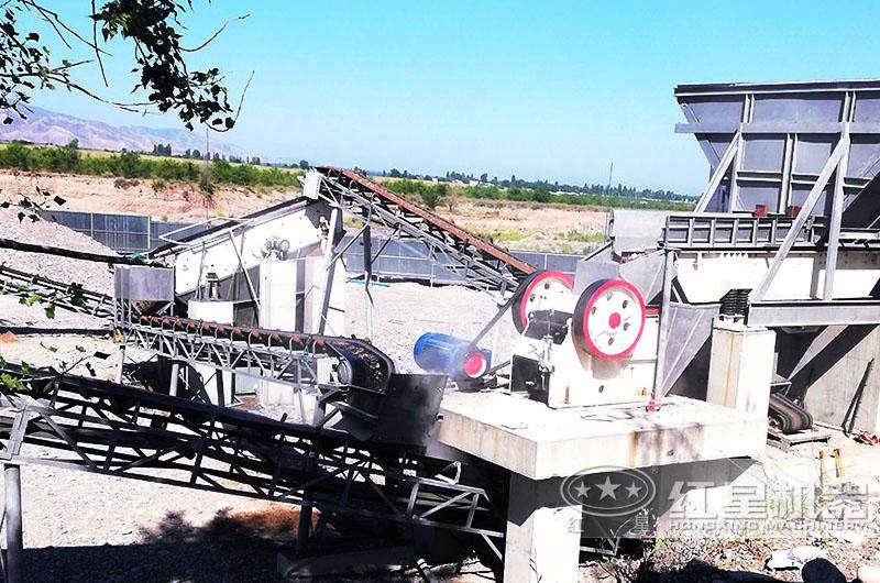 安徽时产100吨河卵石制砂生产线现场
