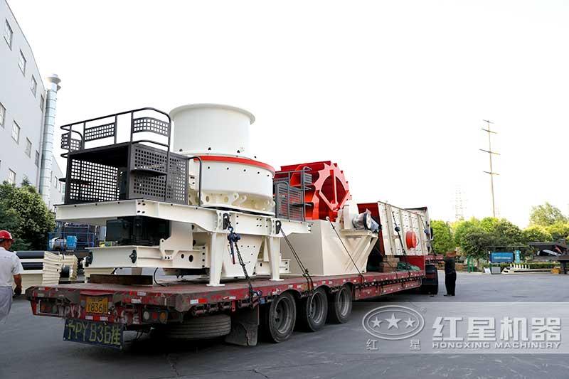 整套时产100吨制砂生产线发货
