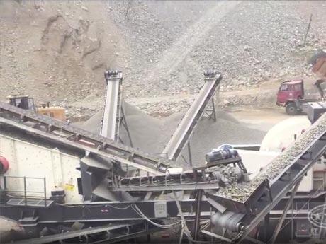 石灰石移动破碎生产线山东