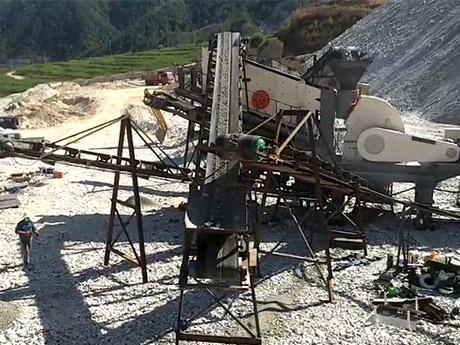 时产300吨青石移动破碎生产线山东济宁