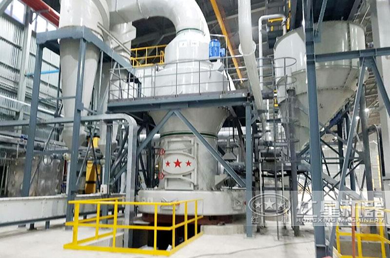 大型磨石粉机器设备生产线现场