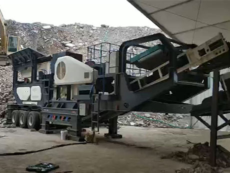 时产200吨长石移动破碎生产线江西