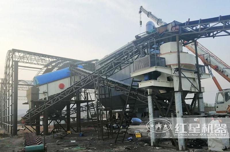 河北时产400吨机制砂生产线现场