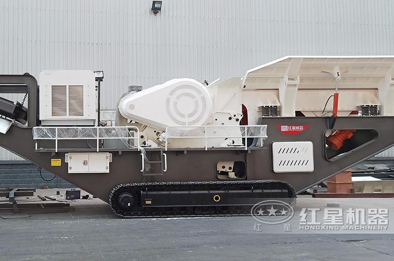 砂石料生产线全套设备:移动鄂破机